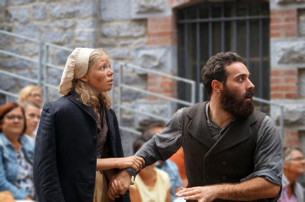 Yentl Rousseau-Piot (Cosette) & Anthony Molina-Diaz (Jean Valjean)