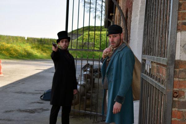 Quentin Juy (Javert) et Anthony Molina-Diaz (Jean Valjean)